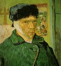van Gogh Self portrait with bandaged ear, 1889, 60x49 cm, Co