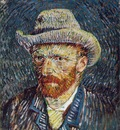 van Gogh Self portrait with felt hat, 1887 88, 44x37 5 cm, R