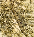 van Gogh Tree with ivy in the asylum garden, 1889, 62x47 cm,
