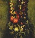 van gogh vase with hollyhocks