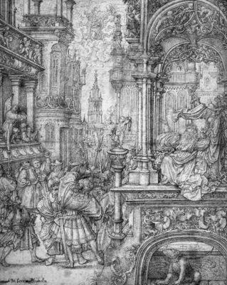 Gossaert J Auguste et la Sybille de Tibur Sun