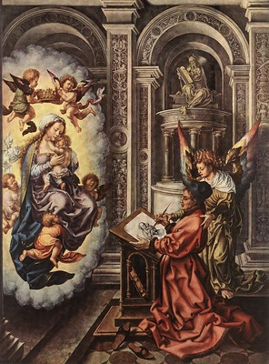 Mabuse Jan Gossaert St Luke Painting the Madonna, 1520 25,