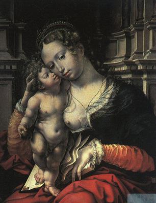 Mabuse Jan Gossaert The Virgin and Child, 1527, oil on pan