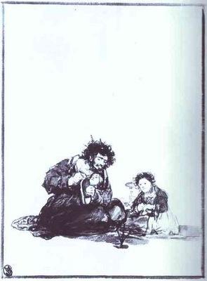 Francisco de Goya El ciego trabajador Diligent Blind Man