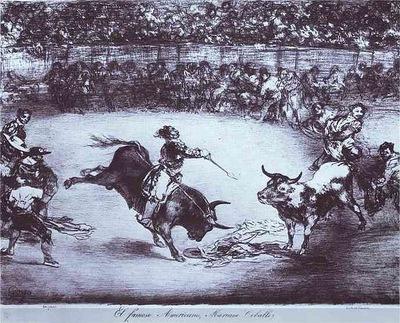 Francisco de Goya El famoso Americano, Mariano Ceballos The Famous American, Mariano Ceballos