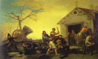 Francisco de Goya Fight at the Cock Inn