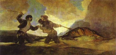 Francisco de Goya Fight with Clubs