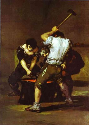 Francisco de Goya La fragna The Smithy
