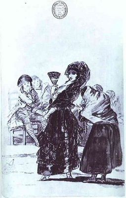 Francisco de Goya Old Beggar with a Maja