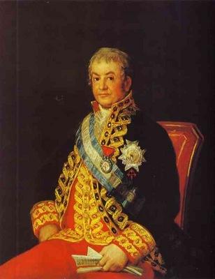 Francisco de Goya Portrait of Jose Antonio, Marques Caballero Kepmesa