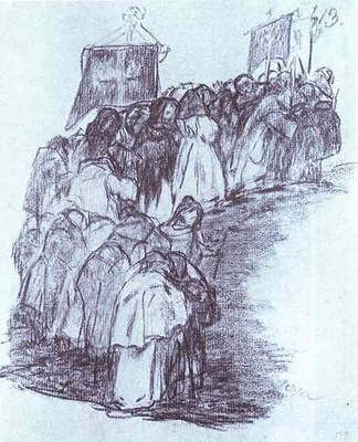 Francisco de Goya Procession of Monks