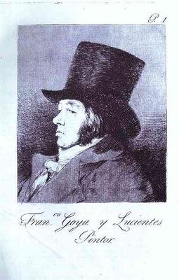 Francisco de Goya Self Portrait  Frontpiece to Caprichos