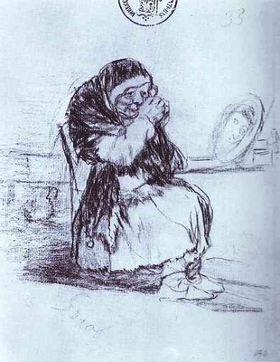 Francisco de Goya The Old Woman with a Mirror