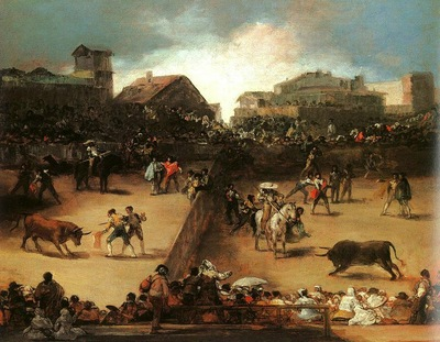 Goya The Bullfight, oil on canvas, Metropolitan Museum of Ar