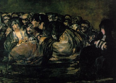 goya the great he goat or witches sabbath, ca 1821 23, det