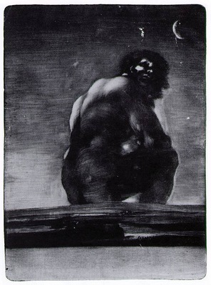 Goya The giant, 1818, Aquatint with burnishing first state