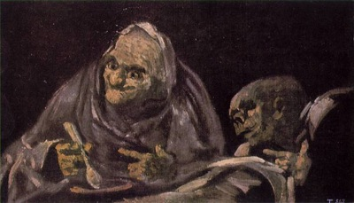 Goya Two Old Women Eating From A Bowl