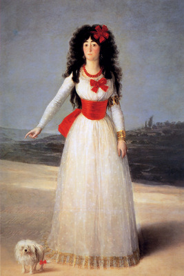 Goya de Francisco Jose The dutchess of Alba Sun