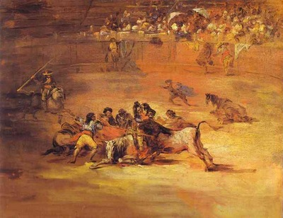 Scene of a bullfight