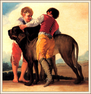 bs ahp Goya Boys With Mastiff