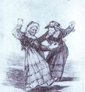 Francisco de Goya Two Dancing Old Friends