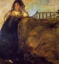 Goya Leocadia, ca 1821 23, 147x132 cm, Oil on plaster remoun