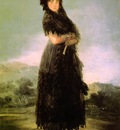 Goya Portrait of Mariana Waldstein, 142x97 cm, Louvre