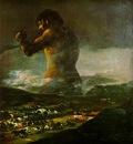 Goya The Colossus, 1808 12, Prado