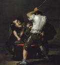 Goya The Forge, c 1815 1820, 181 6x125 1 cm, Frick coll  NY