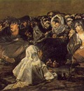 Goya The Great He Goat or Witches Sabbath, ca 1821 23, 140x4