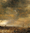 Goyen van Jan Sailing boats in a thunderstorm Sun