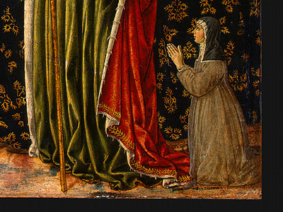 gozzoli saint ursula with angels and donor, 1455, 47x28 6