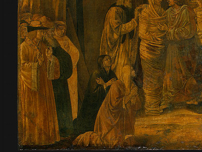 gozzoli the raising of lazarus, probably 1497, 65 5x80 5 c