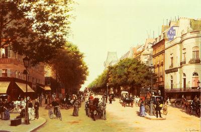 Grandjean Edmond Le Boulevard Des Italiens