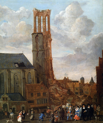 Grasdorp Jan Collapsed tower of church Sun