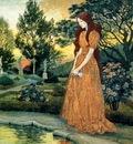 Eugene Grasset Girl in Garden, De