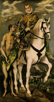 El Greco St  Martin and the Beggar, 1597 1599, 193 5x103 cm,