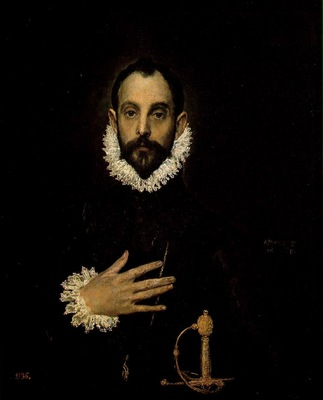 El Greco The Knight with His Hand on His Breast, 81x66 cm, P