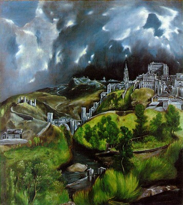 El Greco View of Toledo ca 1597 121 3x108 6 The Metropolitan