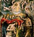 El Greco Baptism of Christ 1597 1600, 350x144 cm, Prado