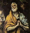 El Greco The Repentant Peter ca 1600, 93 6x75 2 cm The Phill