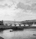 Greive Johan Conrad View on the Seine at Saint Germain Sun