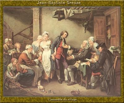 PO Vp S1 33 Jean Baptiste Greuze Laccordee du village