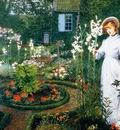 John Atkinson Grimshaw Le jardin du pasteur, la reine des l