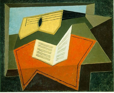 Gris Guitar and music paper, 1926 27, 65x81 cm, Saidenberg G