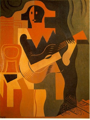 Gris Harlequin with guitar, 1919, 116x89 cm, Galerie Louise