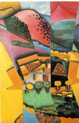 Gris Landscape at Ceret, 1913, 92x60 cm, Moderna Museet, Sto