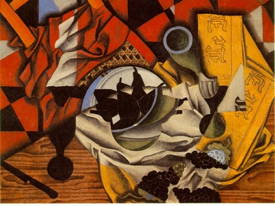 Gris Pears and grapes on a table, 1913, 54 5x73 cm, Mr  amd