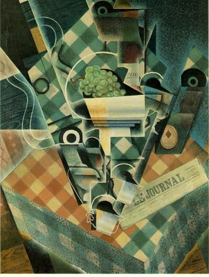 Gris Still life with checked tablecloth, 1915, 116 x 89 cm,