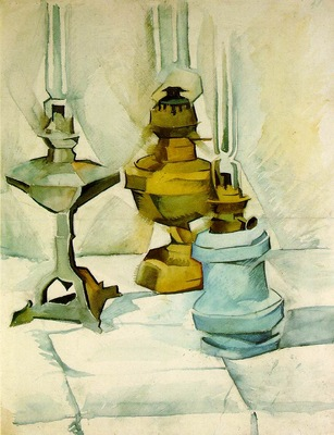 Gris Three lamps, 1910 11, 61 8x47 8 cm, Kunstmuseum Bern
